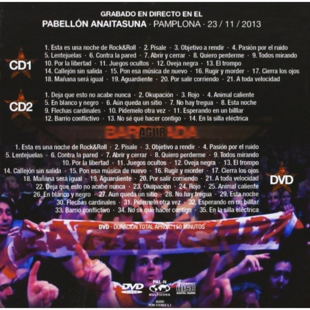 FITO Y LOS FITIPALDIS - EN DIRECTO DESDE EL TEATRO ARRIAGA   (3 VINILOS+2 CDS+DVD)